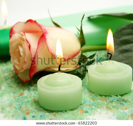 Rose and candles