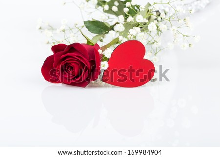 rose and heart for valentine