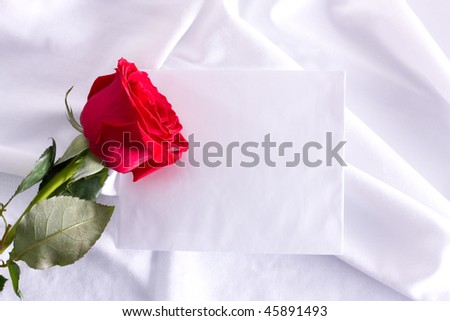 Rose and paper note