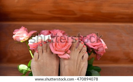 Rose and pedicures