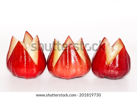 rose apple on paper background