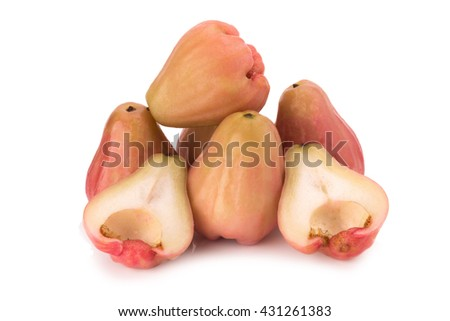 Rose apples  isolated on white background.