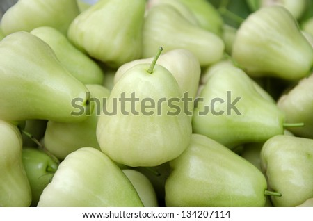 Rose apples or green chomphu - stock photo