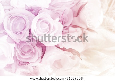 Rose Bouquet with Soft Focus Color Filtered as Background. - stock photo