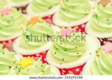 Rose cupcake - stock photo
