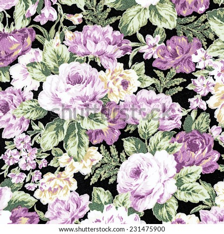 Rose Fabric background, Fragment of colorful retro tapestry textile pattern with floral ornament useful as background. - stock photo