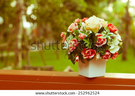 rose flower, vintage effect - stock photo