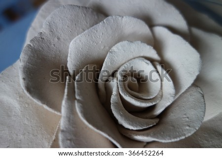 rose formed out of clay