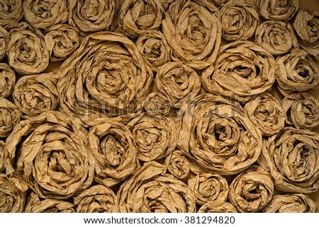 rose like art paper decor handmade background - stock photo