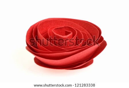 rose made from paper art - stock photo