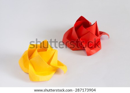 Rose made of Origami paper