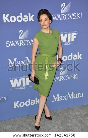 Rose McGowan at the Women in Film 2013 Crystal + Lucy Awards at the Beverly Hilton Hotel. June 12, 2013  Los Angeles, CA