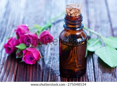 rose oil - stock photo