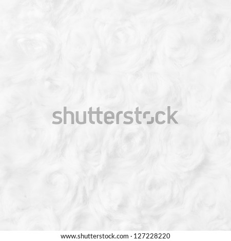 Rose Shaped Cotton Wool Texture, Background, Pattern - stock photo