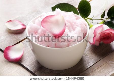 Rose sugar piling, still life - stock photo
