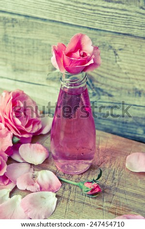 Rose water/retro filter - stock photo