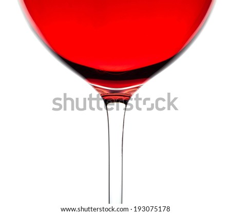 Rose wine in a glass - stock photo