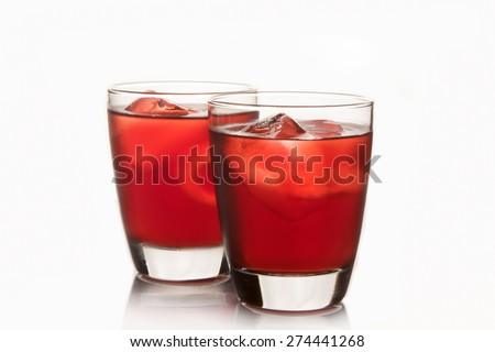 Roselle juice,Thai herbal soft drink for good healthy - stock photo