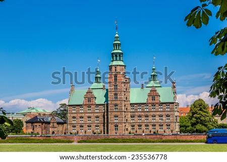 Rosenborg Castle - build by King Christian IV  in Copenhagen, Denmark - stock photo