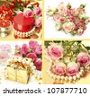 Roses and gifts - stock photo