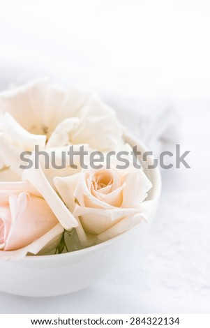 roses and white towel