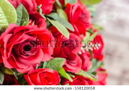 Roses, fabric, red, beautiful, background and texture.