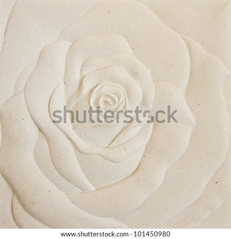 Roses on the walls, plaster, natural color. - stock photo