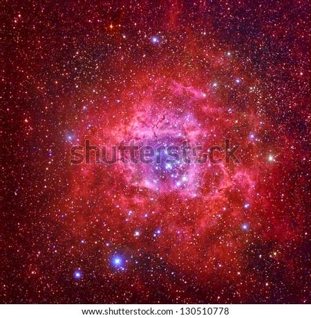 Rosetta nebula - stock photo