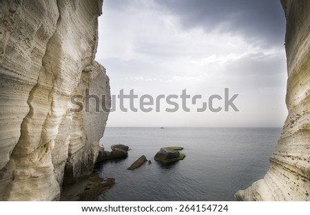Rosh HaNikra grottoes - stock photo