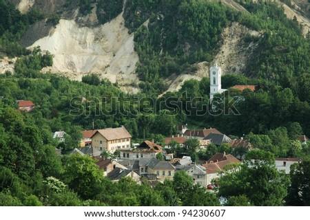 Rosia Montana, a beautiful old village in Transylvania - stock photo