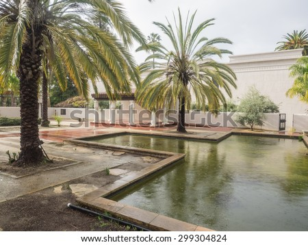 Rosicrucian Egyptian Museum is a museum about Ancient Egypt located at Ancient Mystical Order Rosae Crucis Rosicrucian Park in the Rose Garden neighborhood of San Jose, California. - stock photo