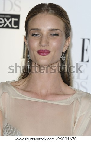 Rosie Huntington Whiteley arriving for the Elle Style Awards 2012 at the Savoy Hotel, London. 13/02/2012 Picture by: Steve Vas / Featureflash