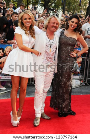"Rosie Parker, Leigh Francis and Kelly Brook arriving for the premiere of ""Keith Lemon: The Film"" at the Vue Cinema, Leicester Square, London. 21/08/2012. Picture by: Steve Vas - stock photo"