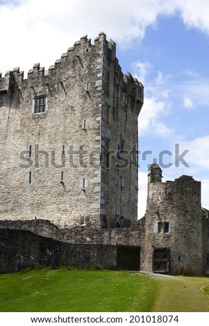 Ross Castle in Killarney National Park, County Kerry, Ireland