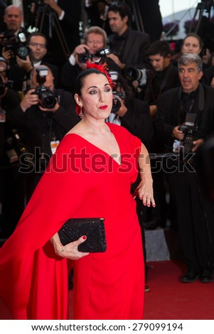 Rossy de Palma attends the Premiere of 'Irrational Man' during the 68th annual Cannes Film Festival on May 15, 2015 in Cannes, France. - stock photo