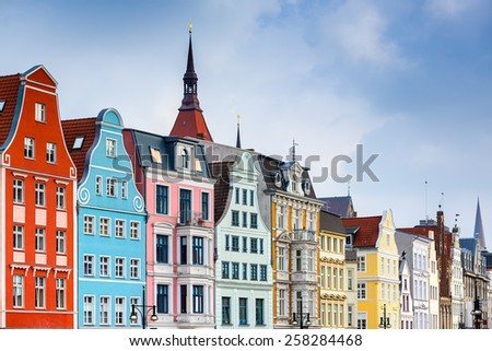 Rostock, Germany old town cityscape. - stock photo