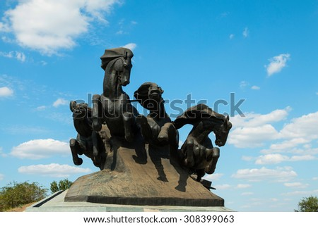 Rostov - on - Don, Russia - August 20, 2015: Civil War Monument, established in Rostov-on-Don.