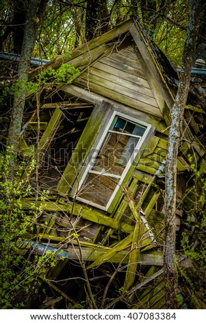 Rot in Peace Old House - stock photo