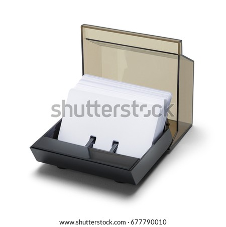 Rotary business card file holder isolated stock photo 677790010 rotary business card file holder isolated on white background colourmoves