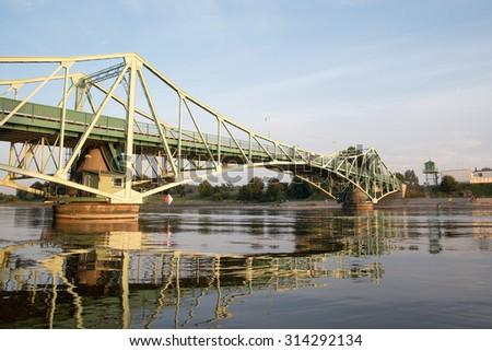 Rotating bridge in Liepaja, Latvia. - stock photo