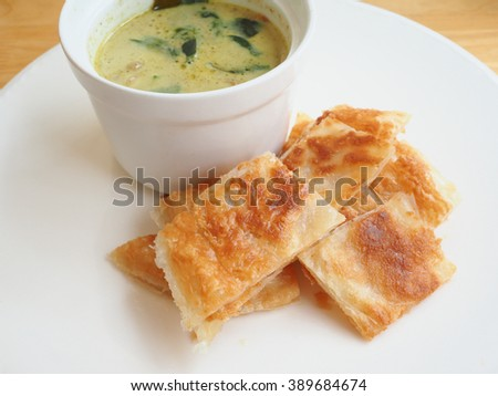 roti with green curry