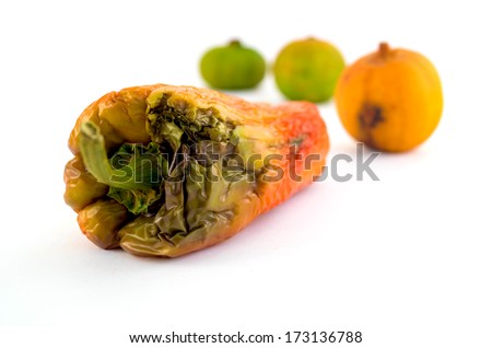 Rotten Vegetables Isolated - stock photo