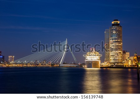 Rotterdam Cruise City - stock photo
