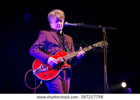 Rotterdam, the Netherlands - February 27, 2016: New Zealand singer Neil Finn performs live on stage at Crosslinx Festival at The Doelen Music Hall.