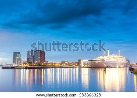 Rotterdam, The Netherlands - November 1 2016, Old passenger ship adopted to museum, Rotterdam