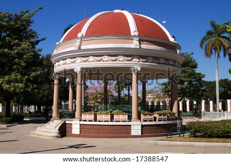 Rotunda  in Cienfuegos city centre (Marti's garden), Cuba