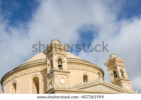 Rotunda of Mosta Dome. Republic of Malta. - stock photo