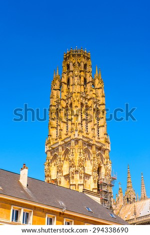Rouen Cathedral (Notre Dame de Rouen), a Roman Catholic Gothic cathedral in Rouen, France