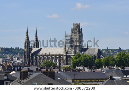 Rouen, France, the old cathedral