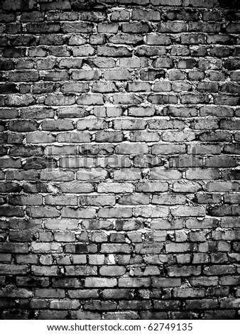 rough brick wall - stock photo